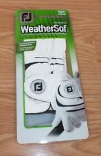 Genuine FootJoy Women's Right Medium WeatherSof White Golfing Glove *NIB*