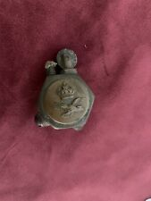 Beautiful WW1- WW2 Trench Art Pocket Lighter  Made with RAF & EAGLE Buttons