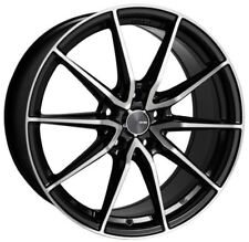 18x8 Enkei Rims DRACO 5x114.3 +45 Black Rims Fits Eclipse Camry Civic Tc