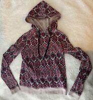 Aeropostale xs extra small women's hoodie top paisley purple