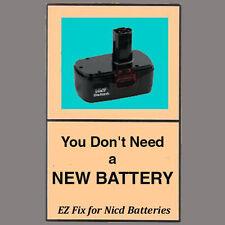 FIX your BLACK & DECKER battery REVIVE-IT guide + video 9.6 12 14.4 24 Firestorm