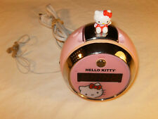 Hello Kitty Pink Projection Alarm Clock AM/FM Radio Sanrio Co. LTD