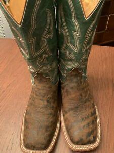 Men's Anderson Bean Cowboy Boot 9 M Safari Giraffe Pre Owned