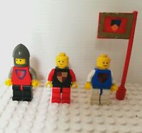 Vintage Lego minifigures & accessories bundle from set 383-2 Knights Tournament