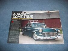 "1955 Chevy Bel Air Sedan Pro Street Article ""A Dream Come True"""