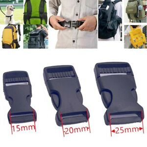 50X Plastic Side Release Fasteners Buckles For Backpack Repair,Pet Collar,Straps
