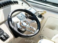 MÖWE Marine Boat Steering Wheel Havanna Leather Black For Larson Teleflex