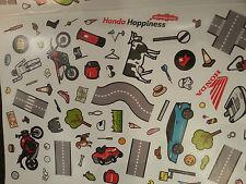 ORIGINALE Honda Bambini Kids Honda Moto ATV Auto Barca Stradale Divertente Adesivo Set