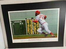Bill Purdom Joe Morgan Cincinnati Reds 1975 World Series Artist Signed Print