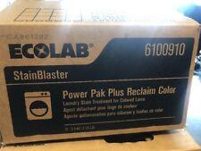 Ecolab Power Pak Plus Reclaim Color #6100910 -12/Case  Fast FREE SHIPPING!