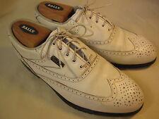Foot-Joy  DryJoys White Wingtip Oxford Golf Shoes Size 7 1/2 M