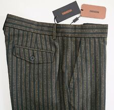 NWT Authentic MISSONI ORANGE LABEL WOOL Blend Flat Front Pants IT-50 US-34