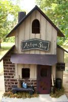 Antique Shop , Lighted House , Primitive Birdhouse , Antiques ,  Primitive House
