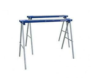 ToolTronix Folding Saw Horse Trestle Twin Metal Support Bars Stands Work Bench
