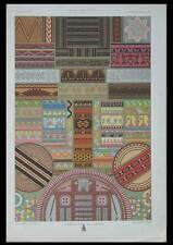 ORNEMENTATION ART PRIMITIF - LITHOGRAPHIE 1869 - RACINET, OCEANIE, AFRIQUE