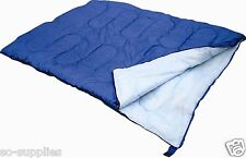 f0e92102931 DOUBLE SLEEPING BAG CAMPING CARAVAN TRAVEL WARM LIGHT WEIGHT COMPRESSION  STORAGE