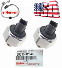 2 x Genuine DENSO 89615-12040 Knock Sensors & Harness for Toyota & Lexus