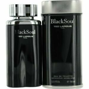 Black Soul by Ted Lapidus 3.3 oz EDT Cologne for Men New in Box