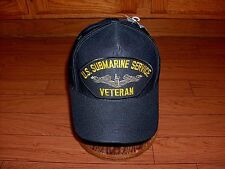 U.S SUBMARINE SERVICE VETERAN U.S NAVY SHIP HAT OFFICIAL MILITARY BALL CAP U.S.A