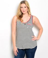 Unbranded Striped Knit Tops for Women