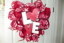 """VALENTINE LOVE "" DECO MESH WREATH"