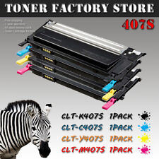 4PK CLT-407S Set Toner For SAMSUNG CLX-3180 CLX-3185FW CLX-3185N CLX-3186