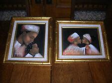 2 Paul Perkins Original Paintings/ Haiti/Haitian Oil Canvas