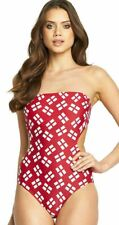 Ladies RESORT Halter / Strapless England Swimsuit Size 12 - Cut Out Monokini New