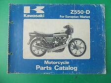 KAWASAKI Z550 D D1 GPZ 550 CATALOGO PARTI RICAMBIO SPARE PARTS CATALOG