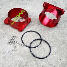 """Aluminum 3.5"""" MAF Mass Air Flow Sensor Intake Adapter Chevy GM LS1 LT1 LT4 RED"""