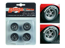 "WHEELS AND TIRE 4 PCS SET ""1967 CAMARO Z/28 TRANS AM"" 1/18 BY GMP 18866"