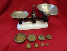 Vintage Avery Shop Balance Scales & Avery Brass Weights Kitchen retro Display