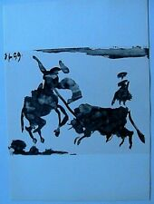 Picasso Toros Y Toreros 1961 B&W Paint Lithograph Print Matador Limited Edition