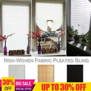 Non Woven Fabric Self Adhesive Curtain Coffee Pleated Blind Balcony Shades Cover