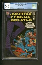 Justice League of America #75 CGC 5.5 Nov 1969 DC Black Canary Green Arrow HOT!