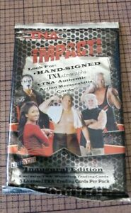 TRISTAR TNA IMPACT! INAUGURAL EDITION WRESTLING TRADING CARDS PACK