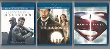 Used Blu Ray Lot: Oblivion + The Illusionist + Man of Steel DVD Home Video