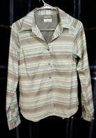 COLUMBIA Omni-Wick Striped Button Down Shirt Women's Size S FREE SHIPPING!!!