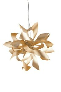 Suspended Lights Modern Design Aluminum Gold Satin