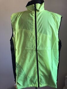 PACE Sportswear Cycling Running Vest WIND STOPPER High Visibility SZ 2XL