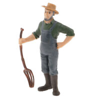 Realistic Male Farmer People Miniatures Action Figure Toy DIY Sand Table #2