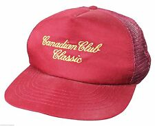 VTG 80s CANADIAN CLUB CLASSIC Snapback CAP Trucker HAT Made In USA! Aged Whisky