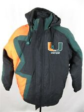Apex One Men's sz M Black Green Orange U Miami Hurricanes Retro Jacket