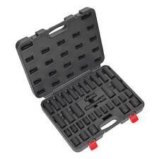 Sealey Acero impacto Socket conjunto de herramientas 34pc 1/2 Pulgada cuadrada Disco Metric-ak5634m