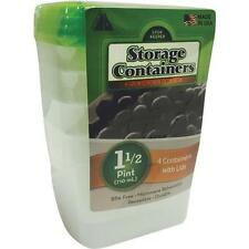 Freezer Storage Containers Boxes 1-1/2 Pint Size 12-4Pk