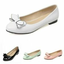 Women's Bowknot Slip On Flat Shoes Fashion Pumps Wedding Comfy Loafers Shoes B