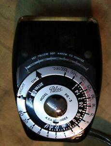 Vintage Palec PE3 Paton Photo Exposure Light meter - Rare +original leather case