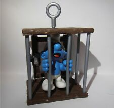 SMURF IN A CAGE SUPER SMURF VINTAGE by SCHLEICH FROM THE SMURFS - 40212