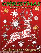 Christmas Adult Colouring Book Gift Tree Decorations Stocking Toys Snowflake Art