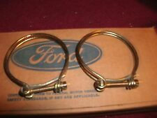 NOS 1965 - 1970 FORD MUSTANG / SHELBY BOSS 302 429 MACH 1 FUEL HOSE CLAMPS SET